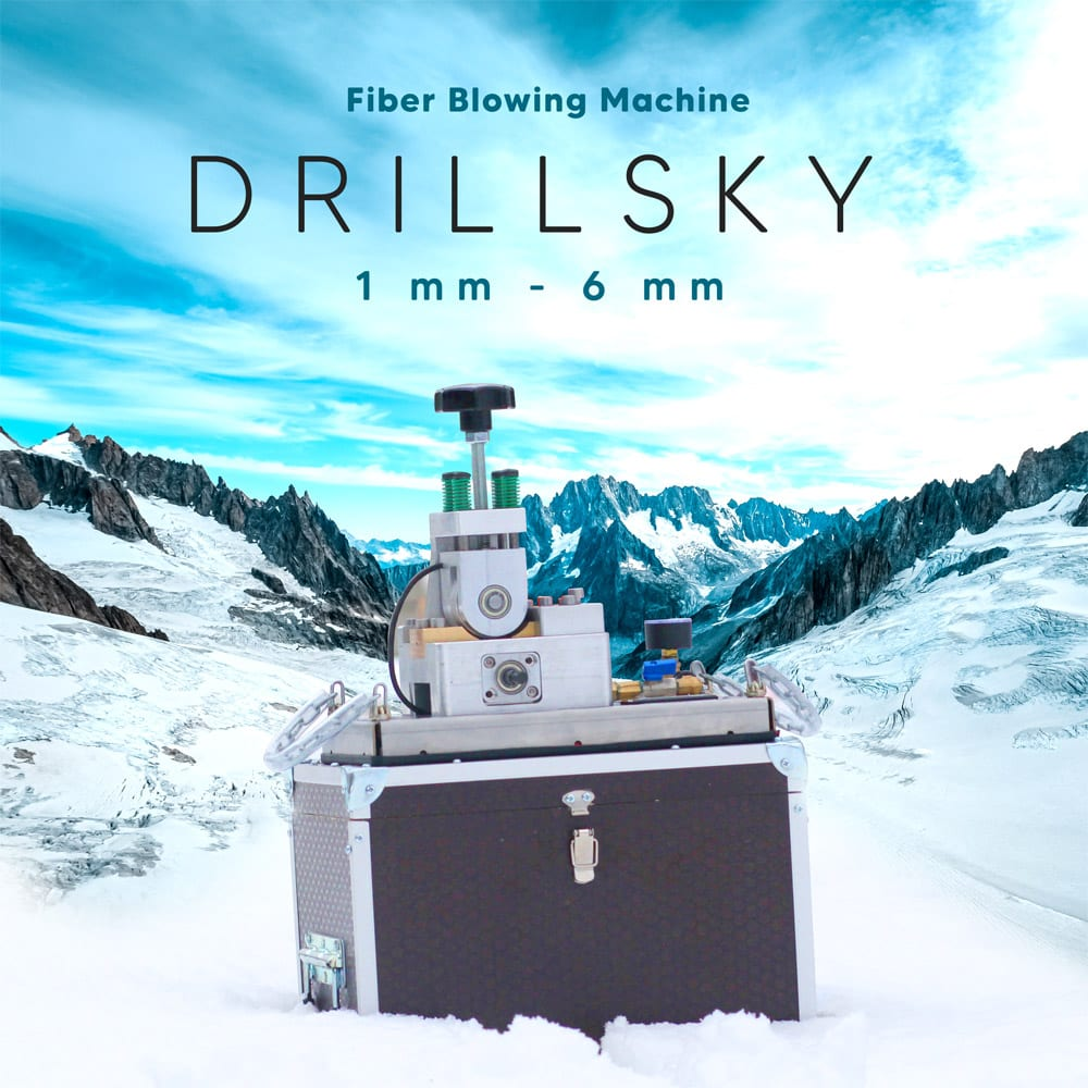drillsky fiber optic cable blowing machine