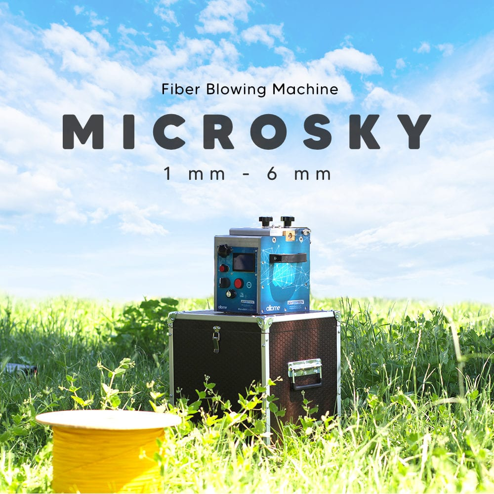 fiber optic cable blowing machine microsky
