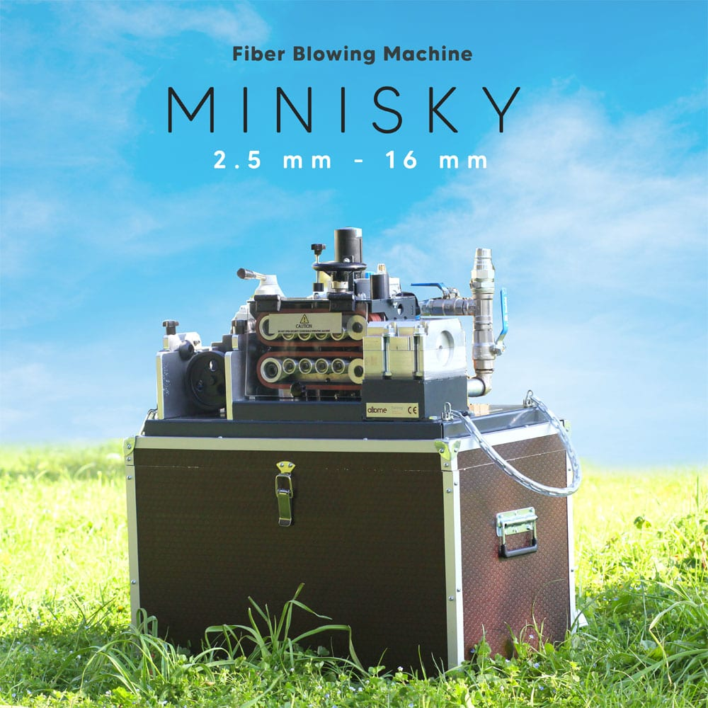 minisky fiber cable blowing machine