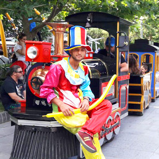 Entertainment parties trackless train