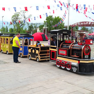 city parks trackless train