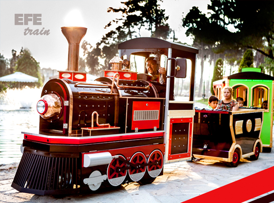 electric mall train, trackless trains