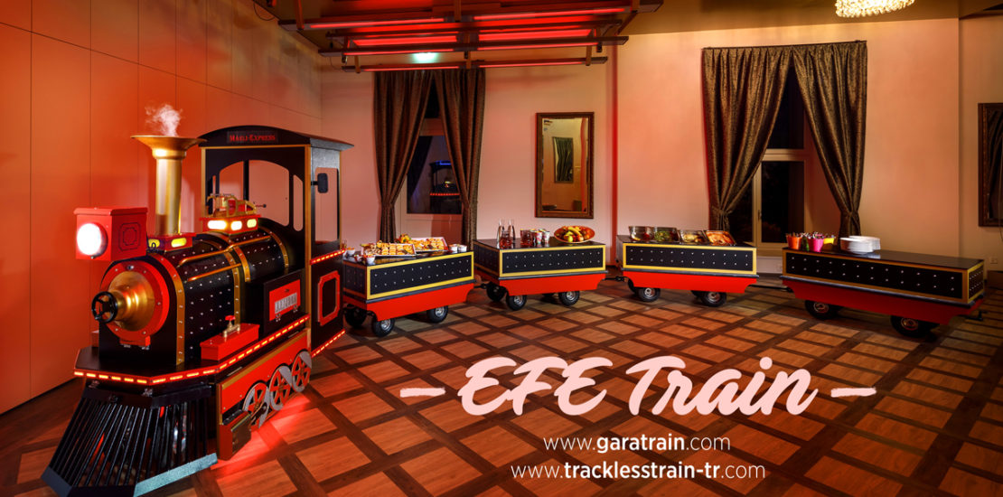 trackless train hotel concept