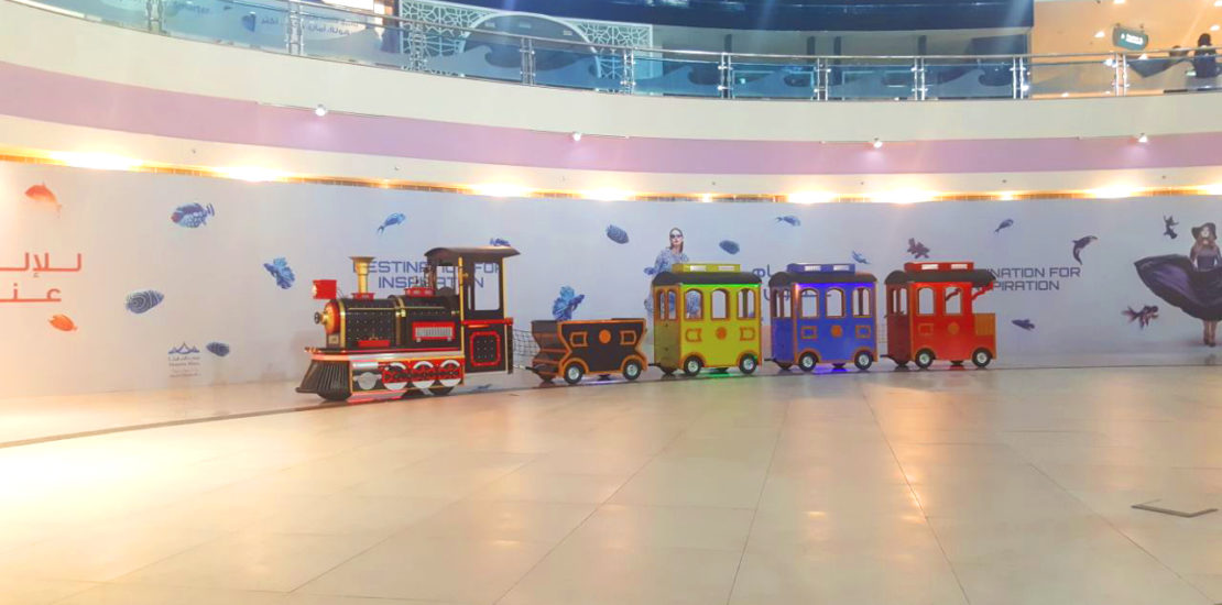 electric mall trains for kids