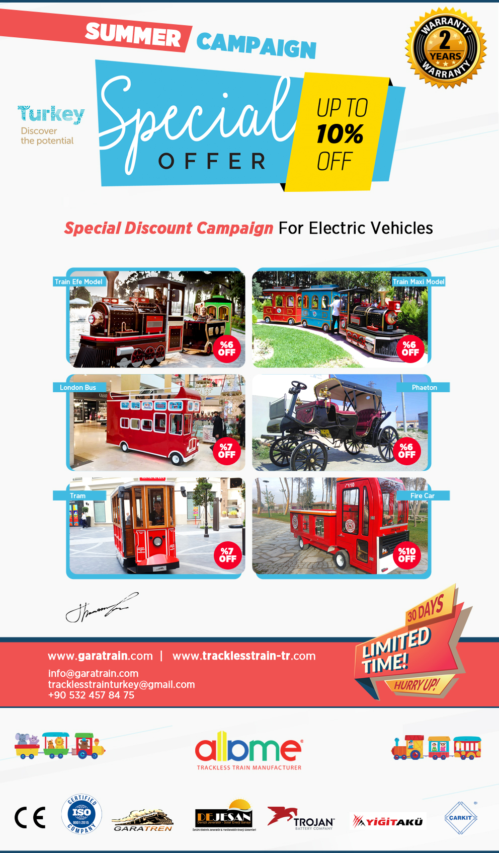 summer campaign trackless train