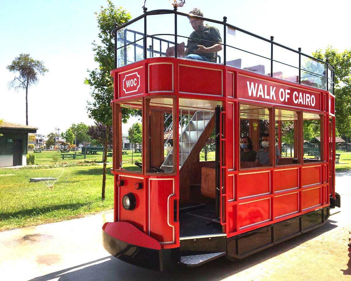 Double Decker Electric Tram for adults
