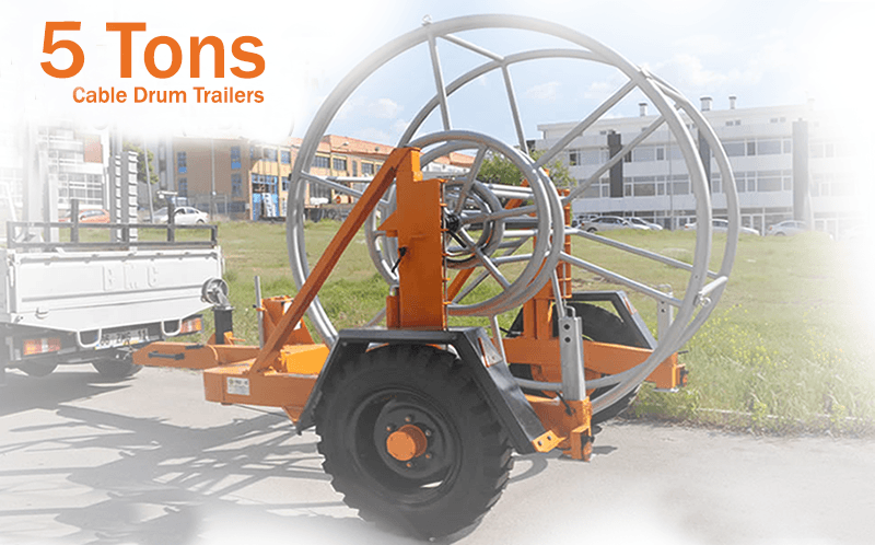 - Hydraulic Cable Drum Trailers 4 TON